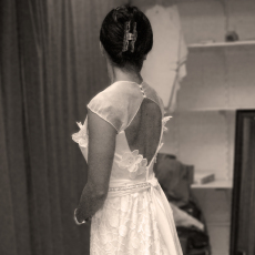 Wedding dress final fitting.